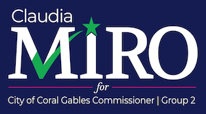 Claudia Miro for Coral Gables Commissioner Logo